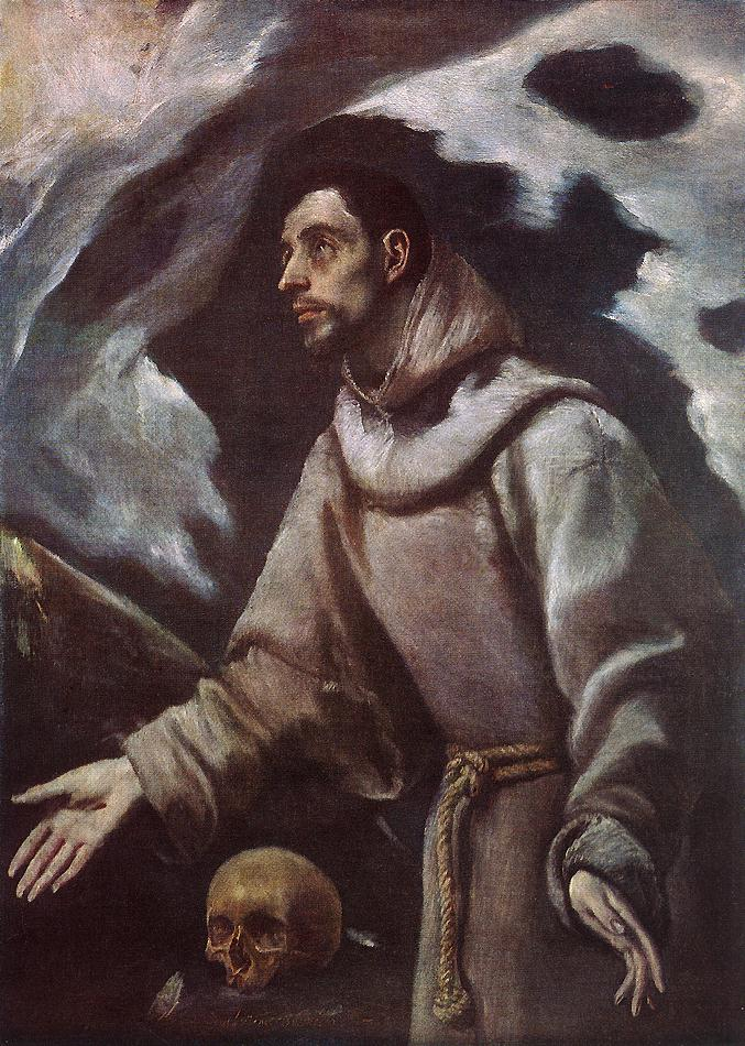 The Ecstasy Of St Francis 1580 | El Greco | Oil Painting