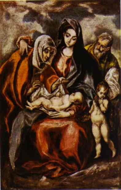 The Holy Family 1590 | El Greco | Oil Painting