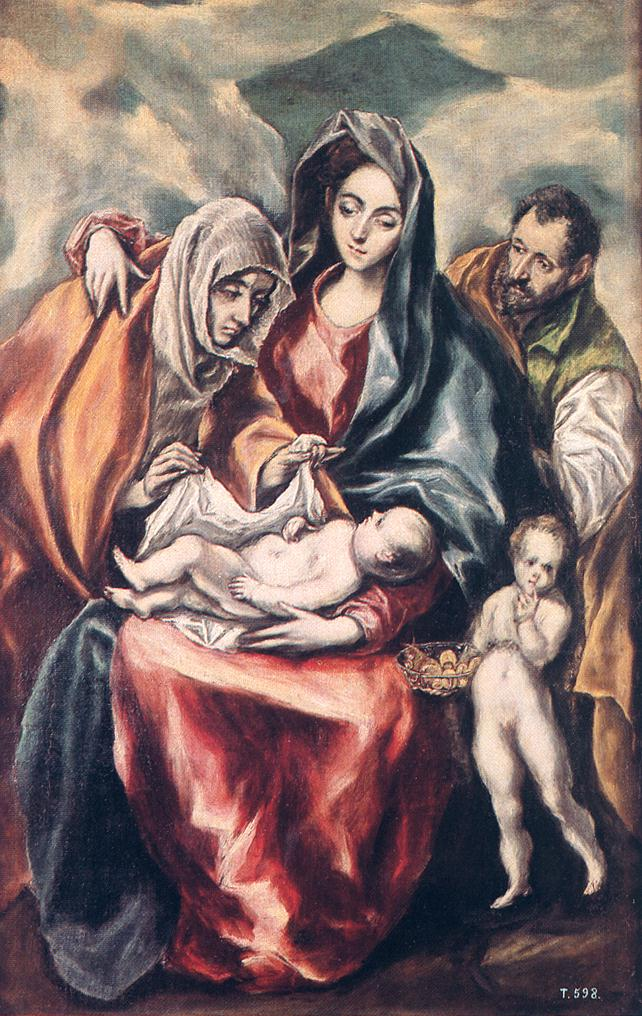 The Holy Family 1594-1604 | El Greco | Oil Painting