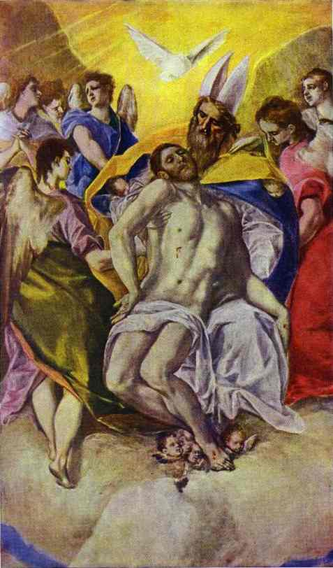 The Holy Trinity 1577 | El Greco | Oil Painting