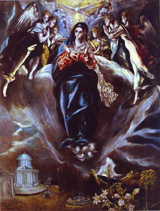 The Immaculate Conception 1610s   El Greco   Oil Painting