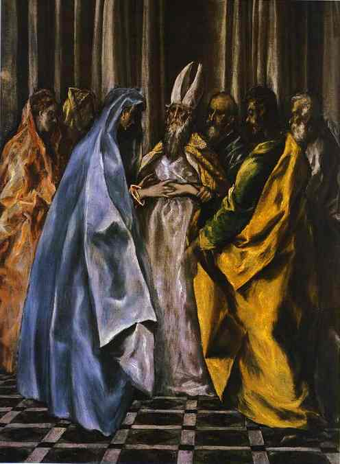 The Marriage Of The Virgin 1600s | El Greco | Oil Painting