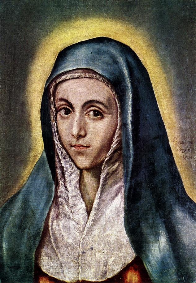 The Virgin Mary 1594-1604 | El Greco | Oil Painting
