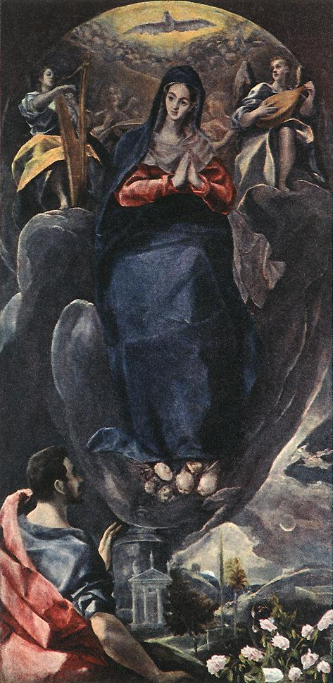 The Virgin Of The Immaculate Conception And St John 1585 | El Greco | Oil Painting