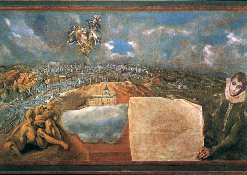 View And Plan Of Toledo C 1608 | El Greco | Oil Painting