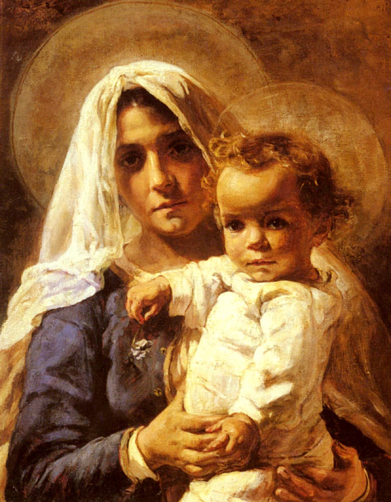 A Mother And Child | Elizabeth Nourse | Oil Painting