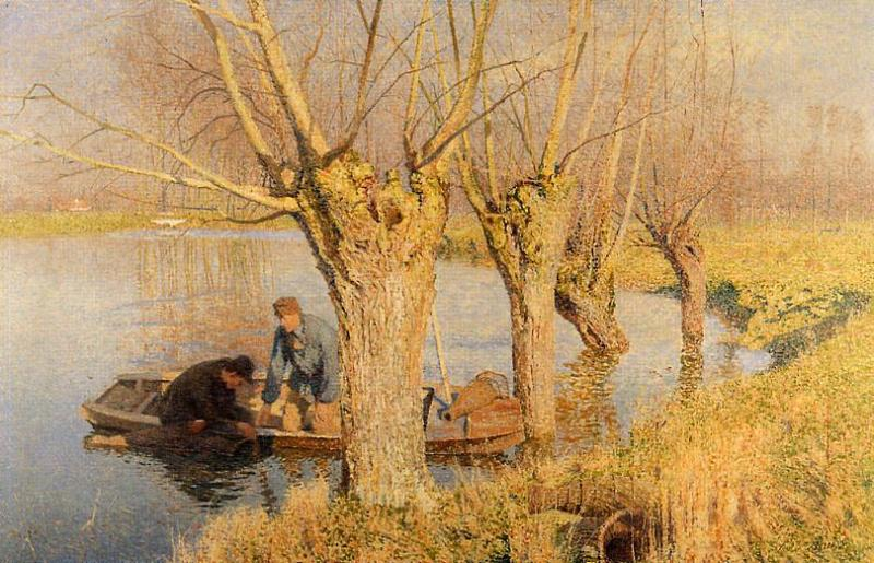 Bringing in the Nets  1893 | Emil Claus | Oil Painting