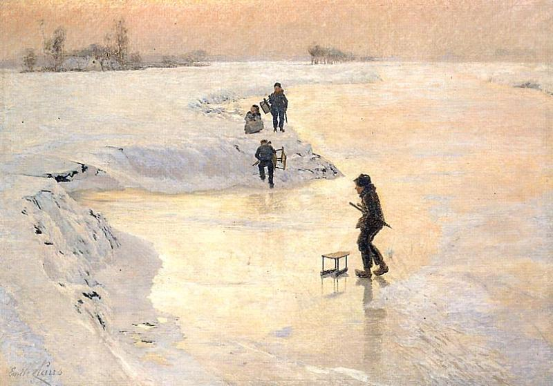 Skaters  1891 | Emil Claus | Oil Painting