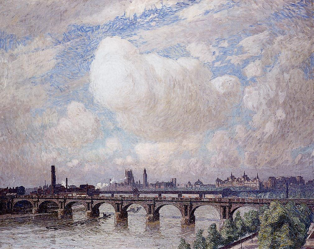 Waterloo Bridge in the Sun  1916 | Emil Claus | Oil Painting