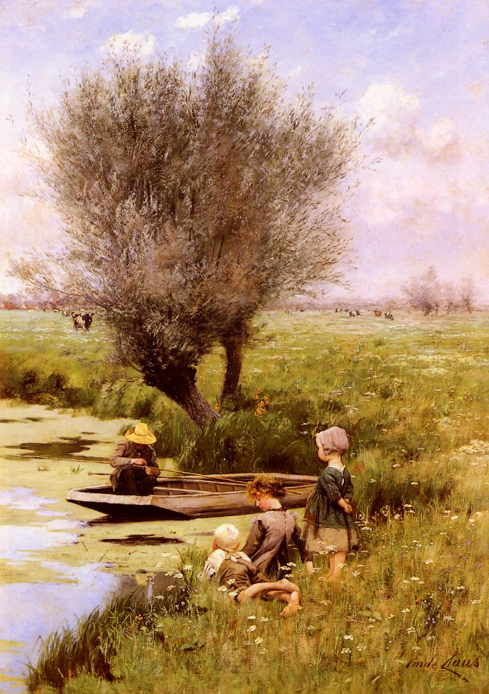 Afternoon Along The River | Emile Claus | Oil Painting