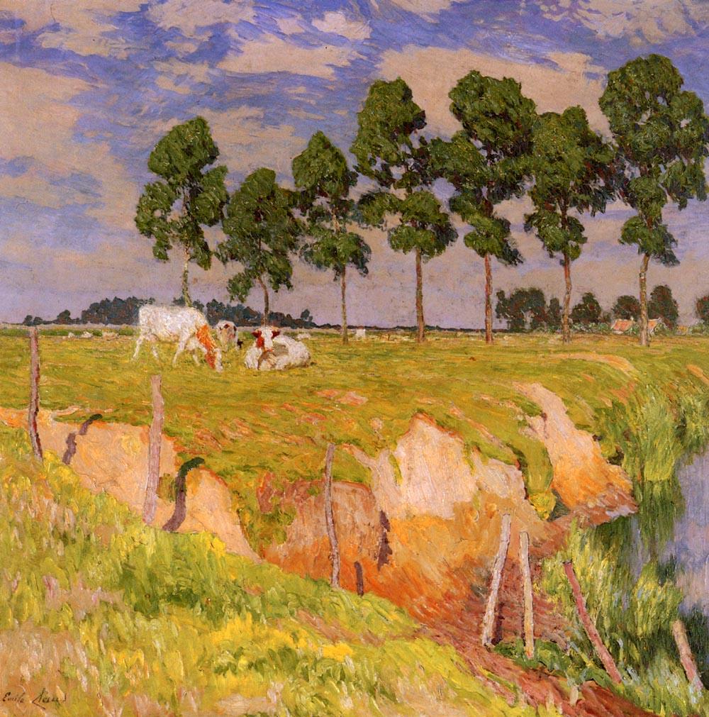 La Berge Rangee | Emile Claus | Oil Painting