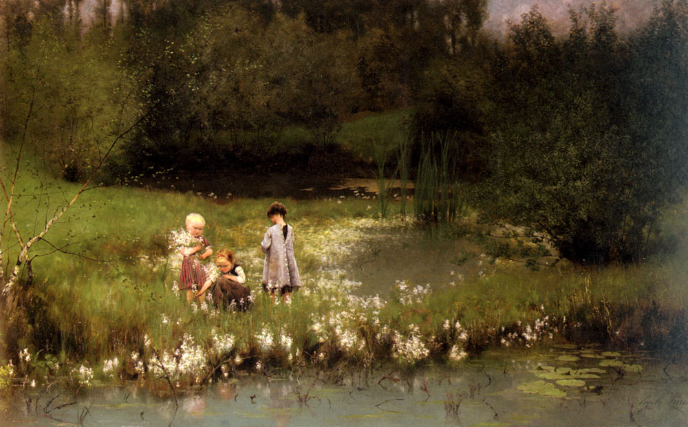 Picking Blossoms | Emile Claus | Oil Painting