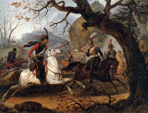 Napoleonic Battle in the Alps | Emile-Jean-Horace Vernet | Oil Painting
