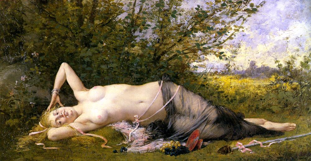 Le Reveil De La Bacchante | Emile Laporte | Oil Painting