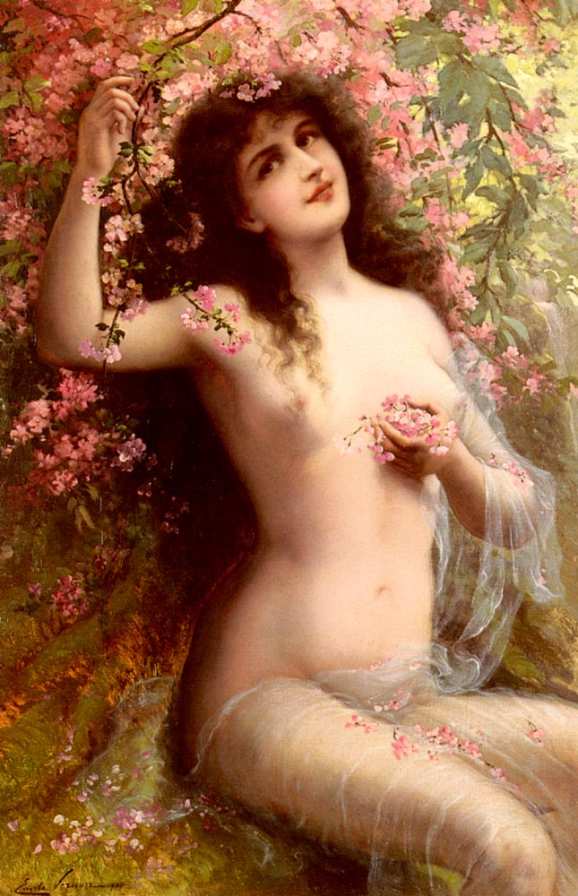 Among The Blossoms | Emile Vernon | Oil Painting