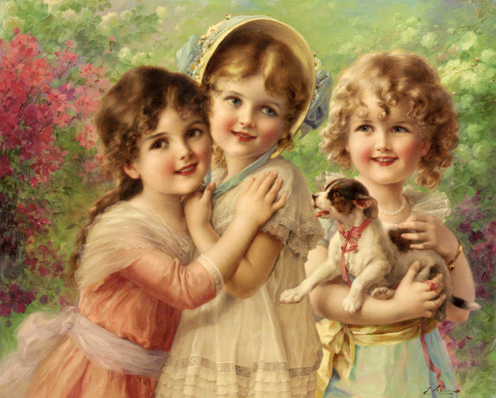 Best Of Friends | Emile Vernon | Oil Painting