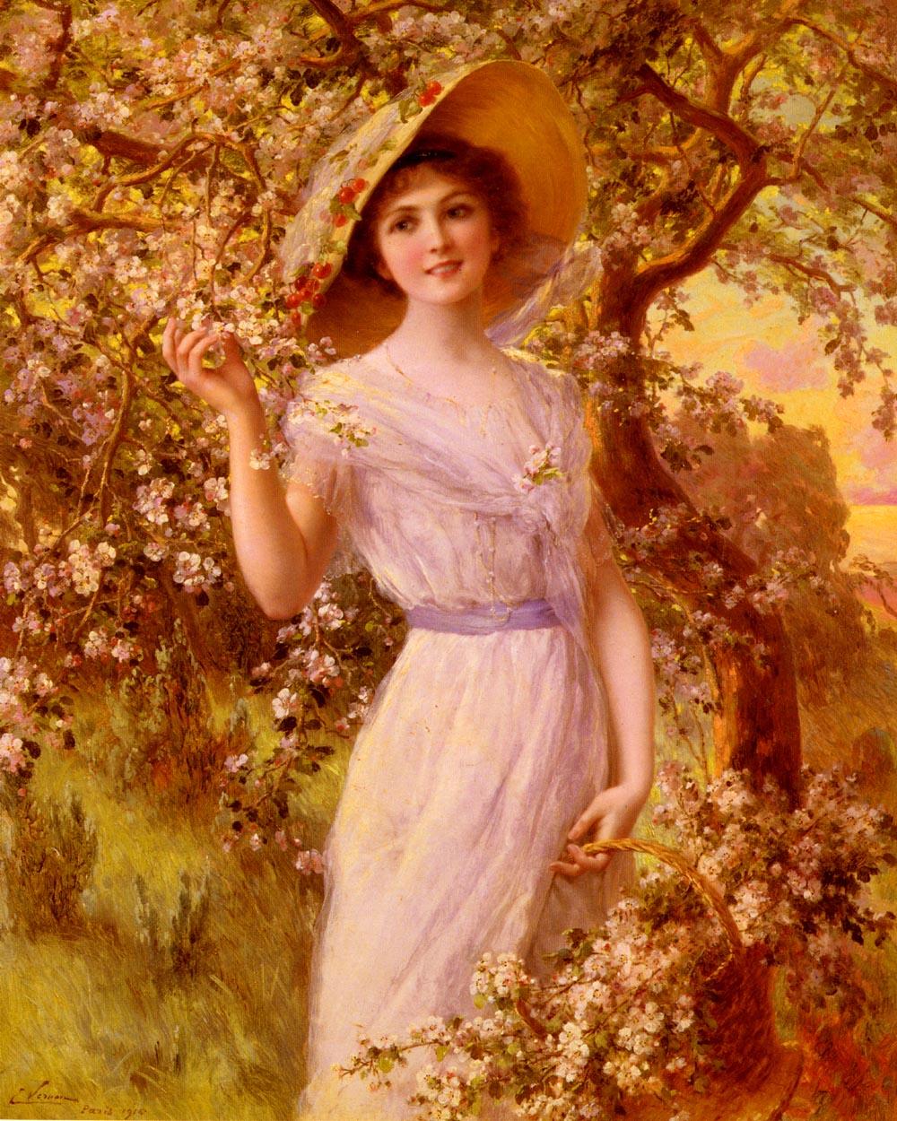 Fleurs De Cerise | Emile Vernon | Oil Painting