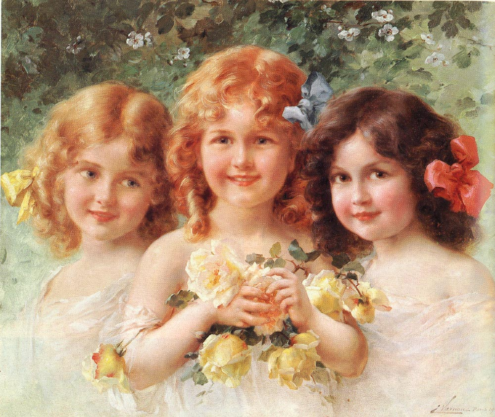 Three Sisters | Emile Vernon | Oil Painting