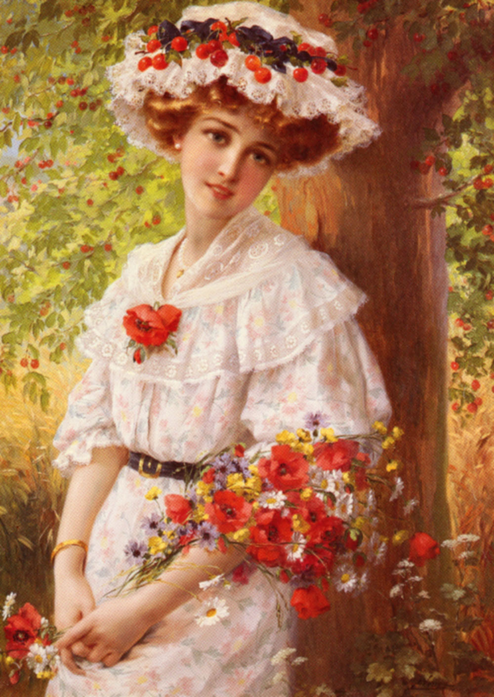 Under The Cherry Tree | Emile Vernon | Oil Painting
