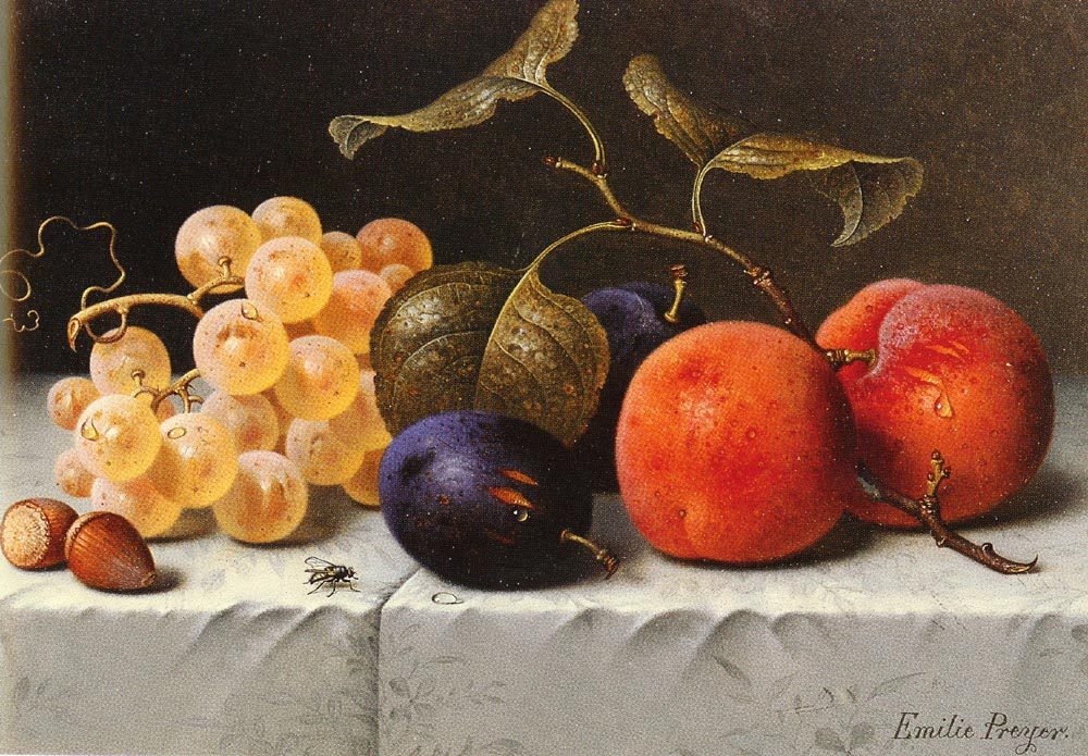 Still Life with Fruit And Nuts | Emilie Preyer | Oil Painting