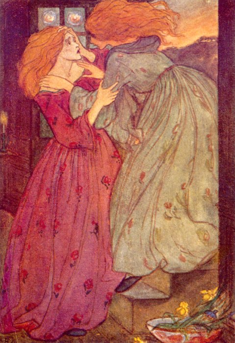 Goblin Market Circa 1910   Emma Florence Harrison   Oil Painting