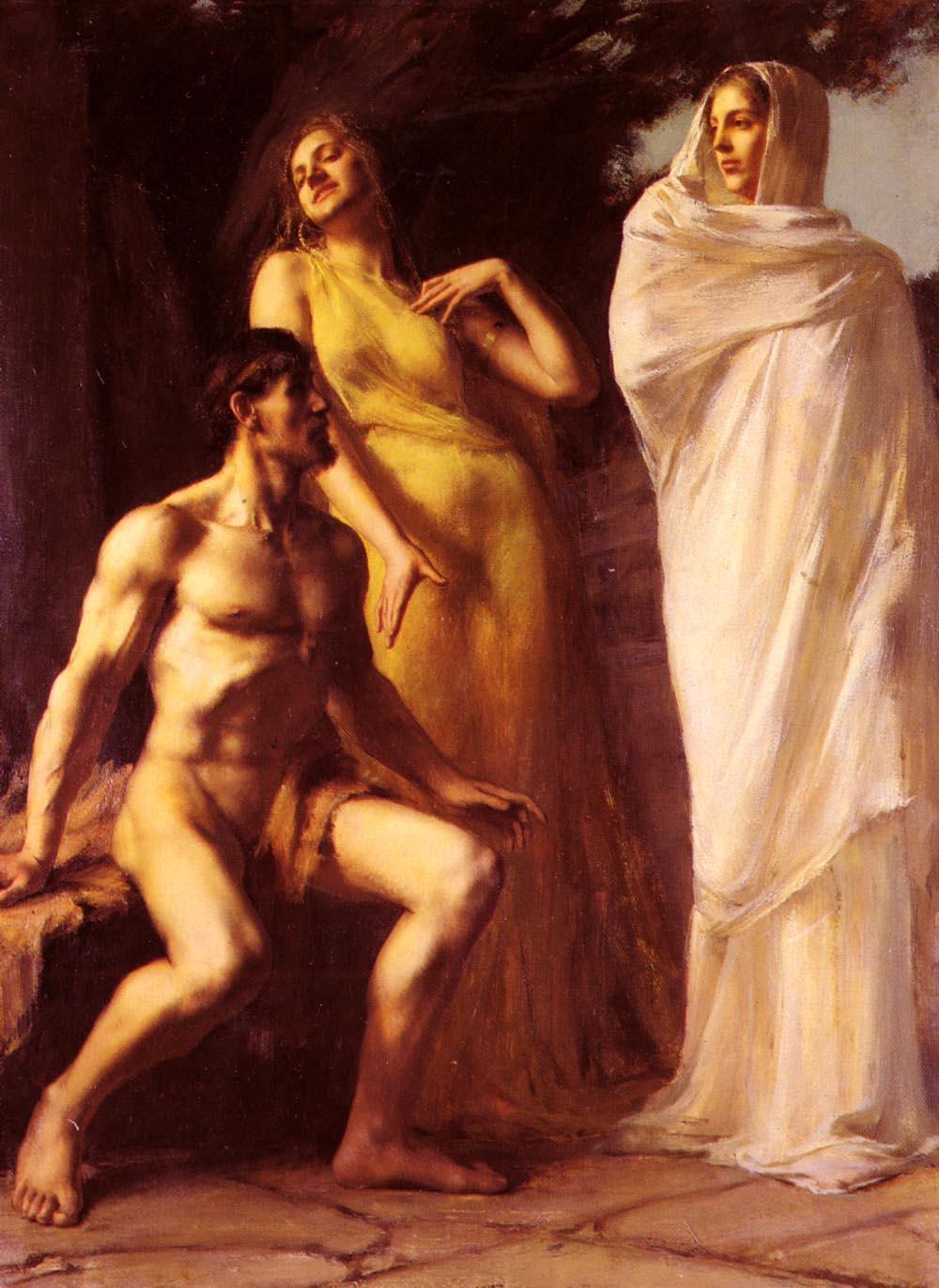 Benner Emmanuel Michel Hercules Between Virtue And Vice | Emmanuel Benner | Oil Painting