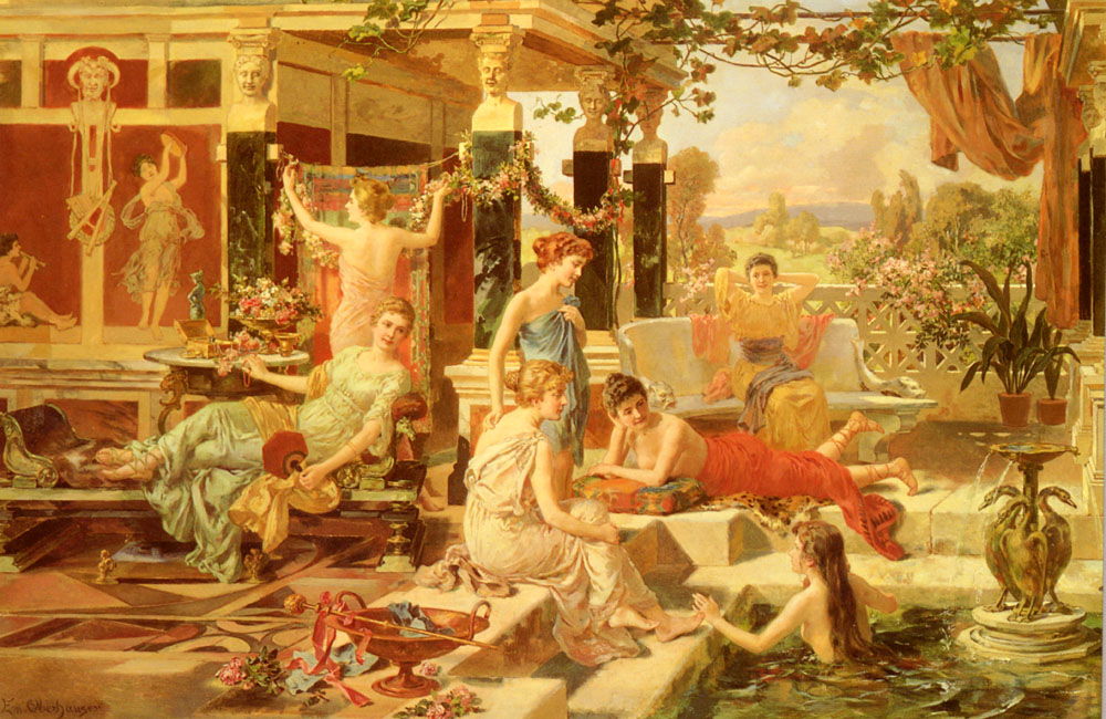 The Roman Bath | Emmanuel Oberhausen | Oil Painting