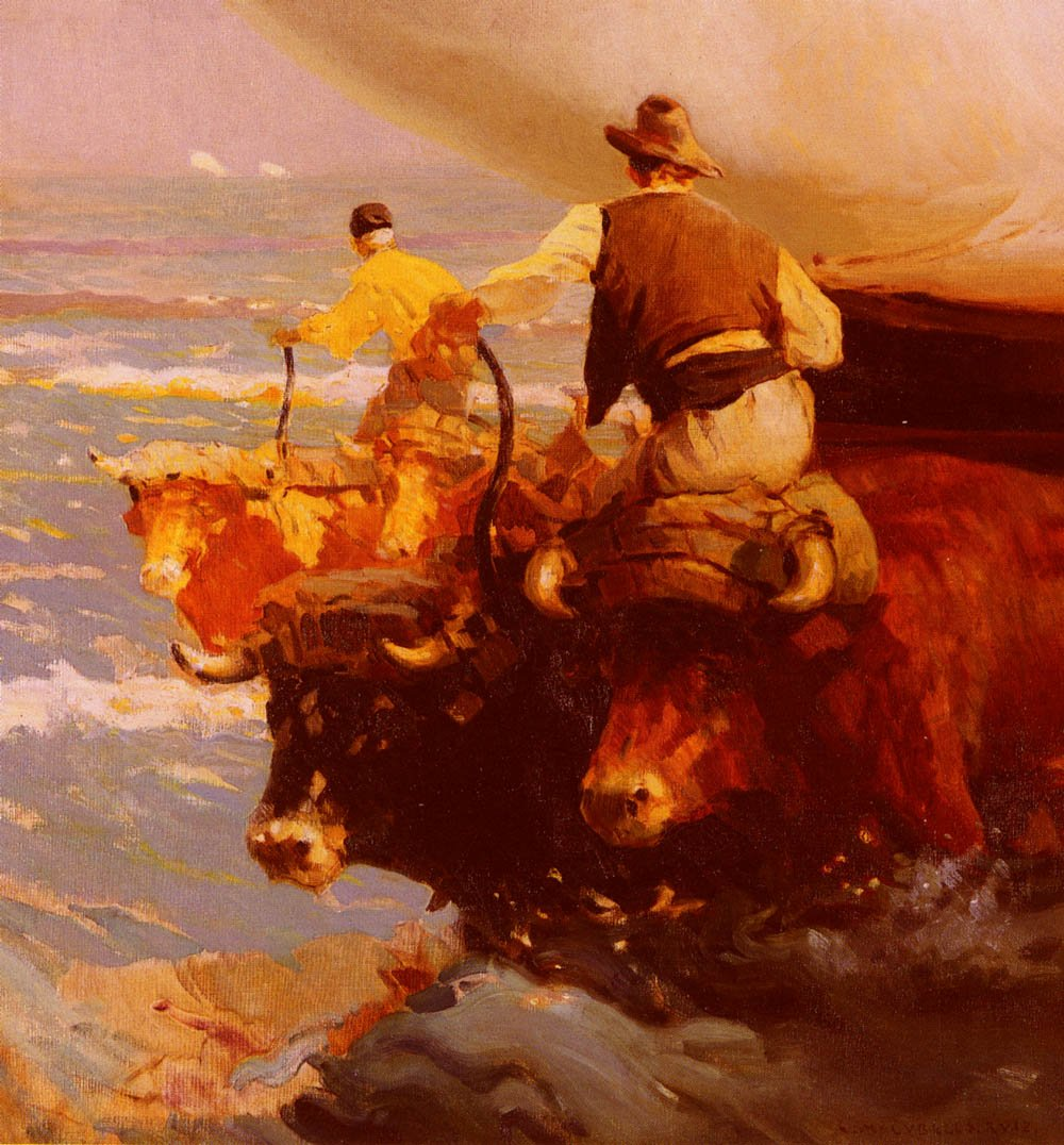Return From Fishing | Enrique Martinez Cubells Y Ruiz | Oil Painting