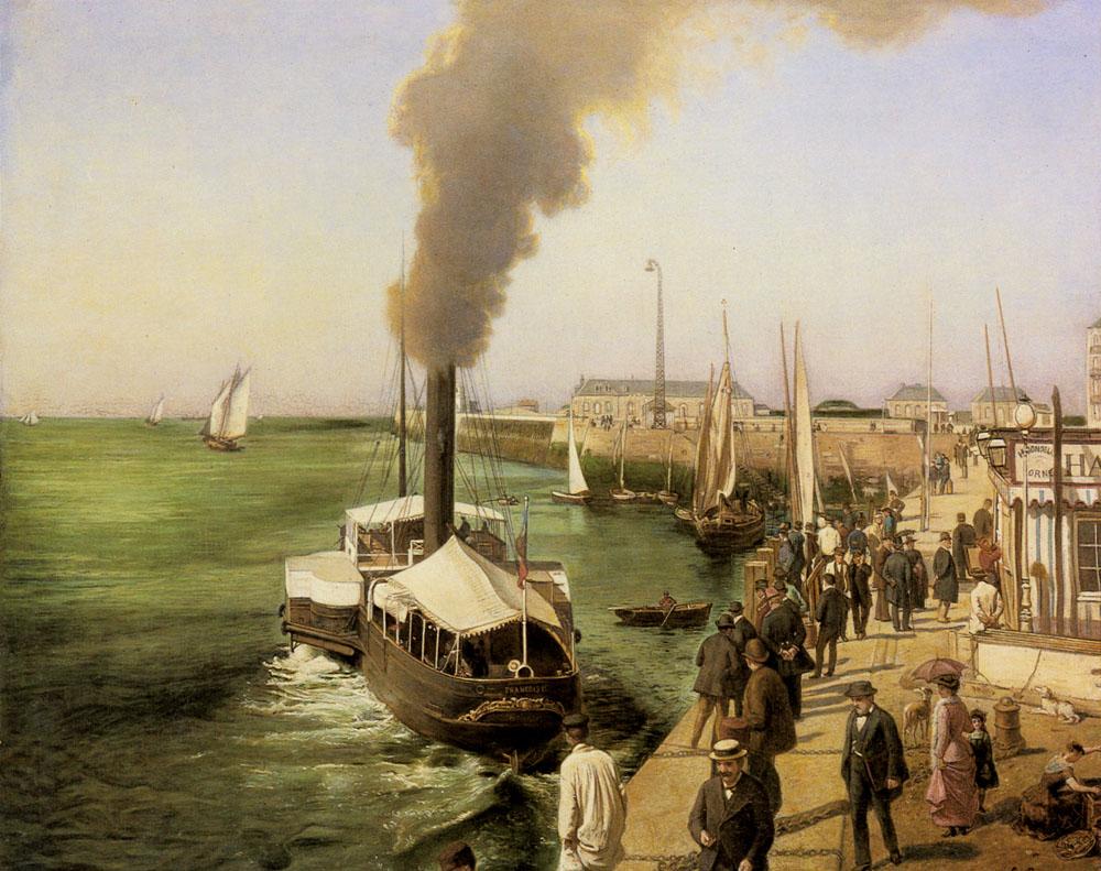 A View of Le Havre | E Parent | Oil Painting