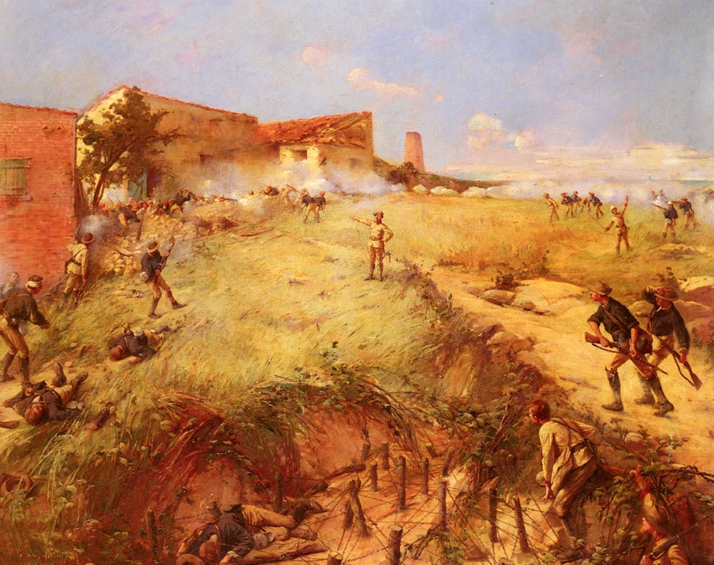 The Battle Of San Juan Hill | Ernest Jean Delahaye | Oil Painting
