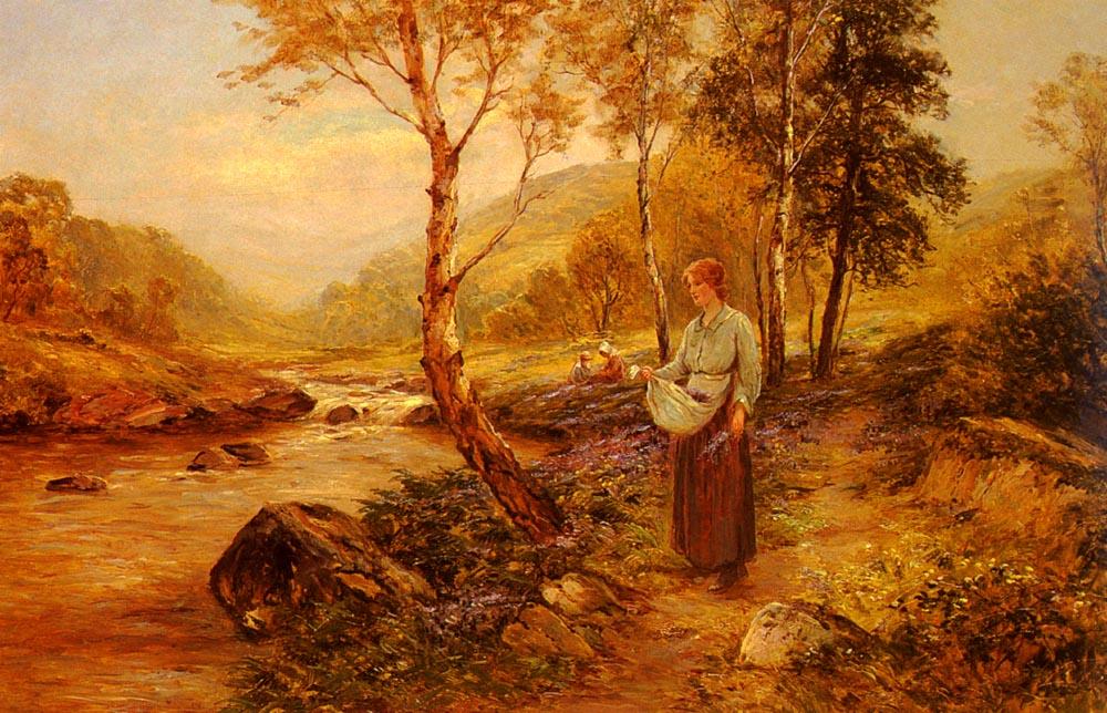 Gathering Wildflowers | Ernst Walbourn | Oil Painting