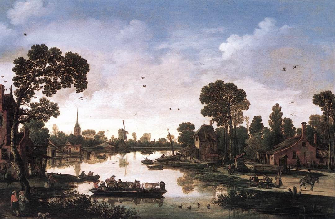 Ferry Boat 1622 | Esaias Van De Velde | Oil Painting