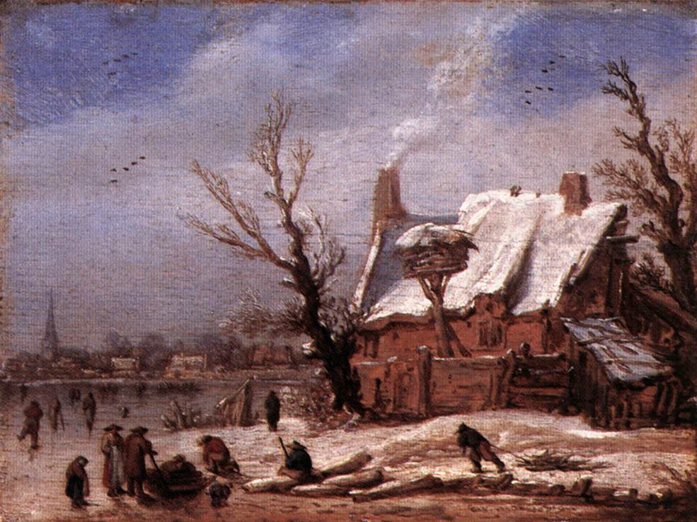 Winter Landscape 1629 | Esaias Van De Velde | Oil Painting