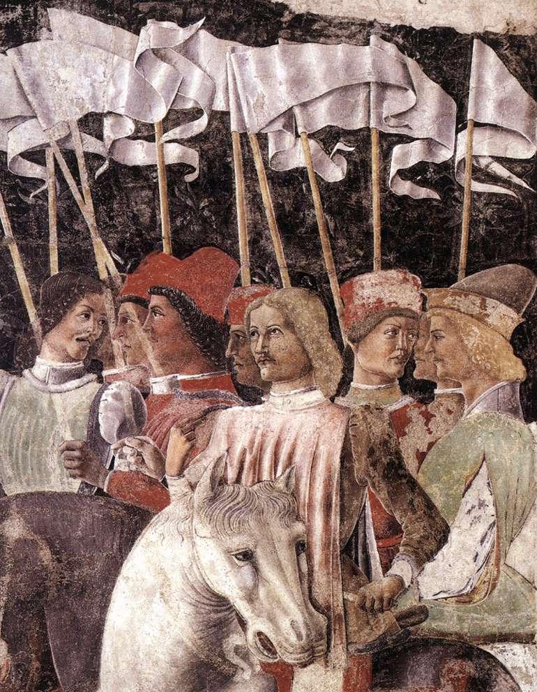 Horseman (detail) 1476-84 | Estense Baldassare | Oil Painting