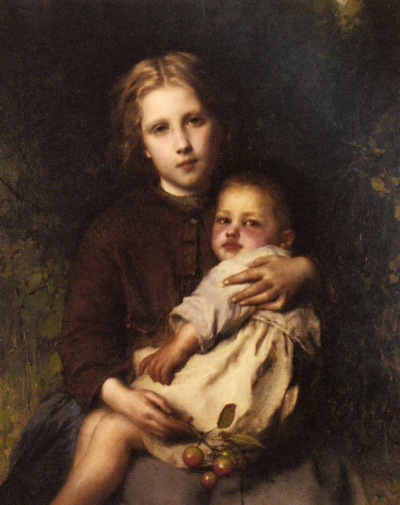Sisterly Love | Etienne Adolphe Piot | Oil Painting