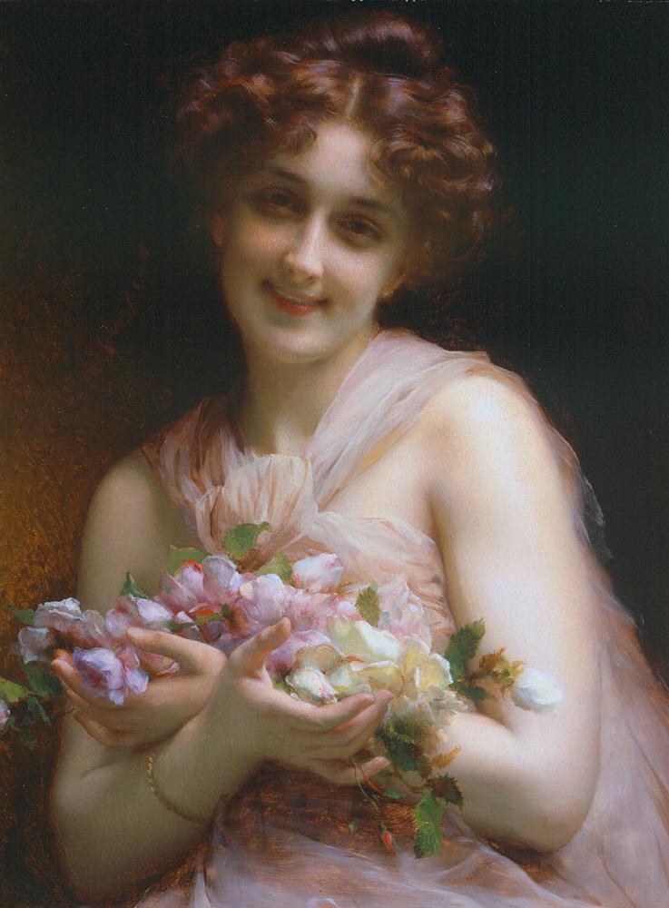 Flowers | Etienne Adolphe Piot | Oil Painting