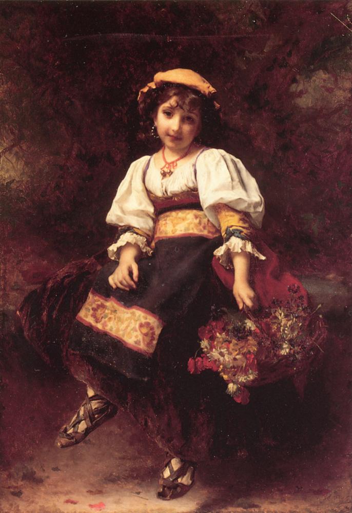 The FLower Seller | Etienne Adolphe Piot | Oil Painting