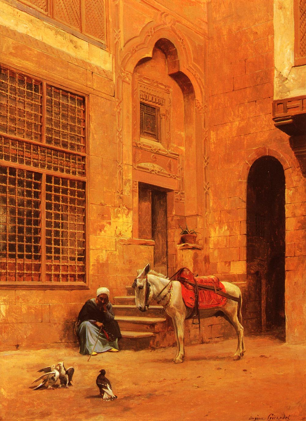 In The Courtyard | Eugene Alexis Girardet | Oil Painting