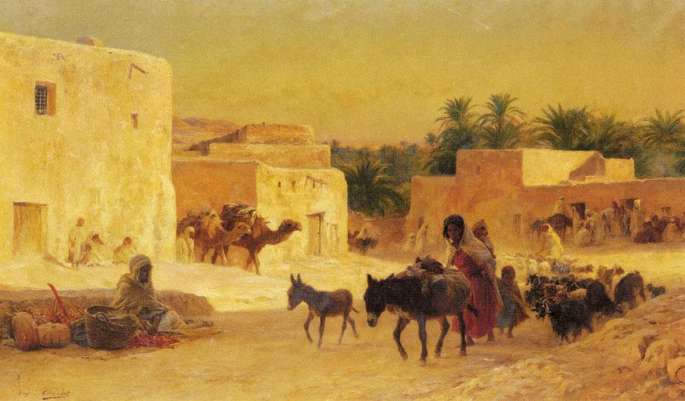 Leaving The Market | Eugene Alexis Girardet | Oil Painting
