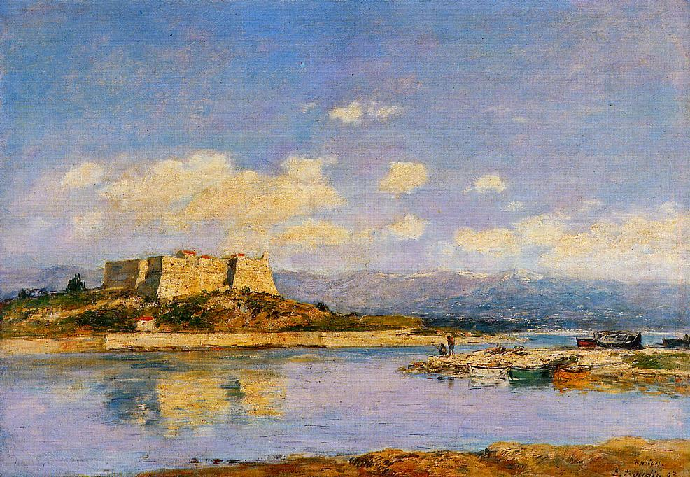 Antibes Fort Carre 1893 | Eugene Louis Boudin | Oil Painting