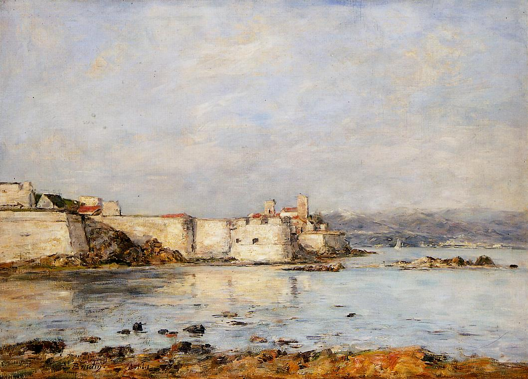 Antibes the Fortifications 1893 | Eugene Louis Boudin | Oil Painting