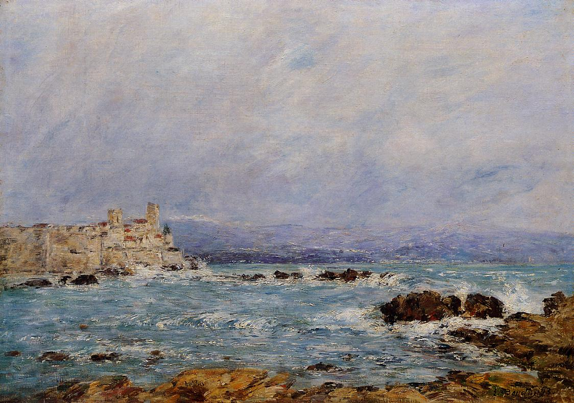 Antibes the Rocks of the Islet 1893 | Eugene Louis Boudin | Oil Painting