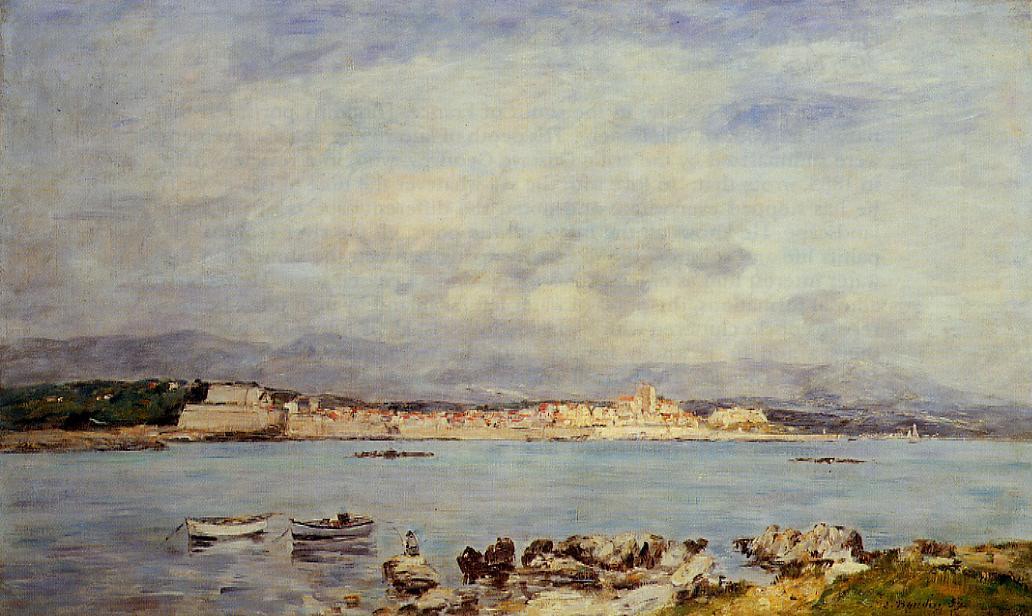 Antibes Vue pris de la salis 1893 | Eugene Louis Boudin | Oil Painting