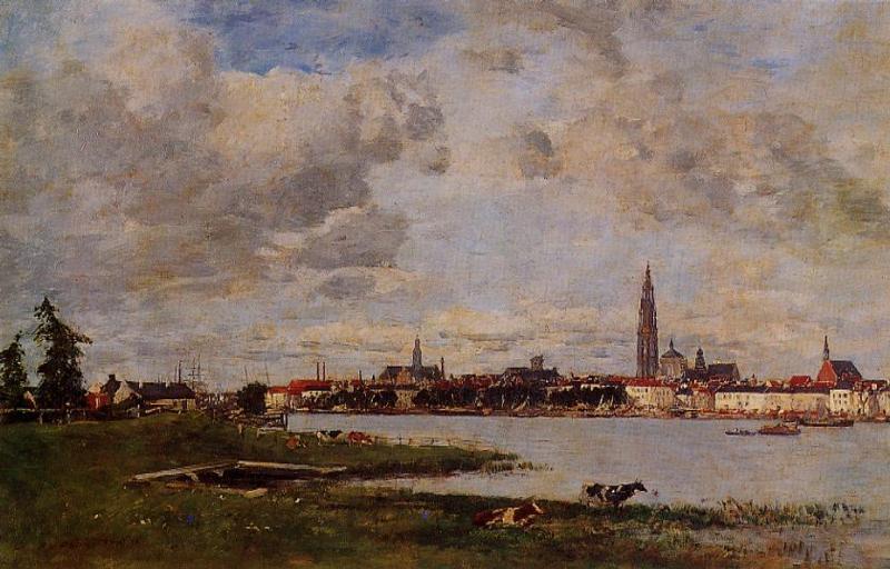 Anvers la tete de Flanders 1871 | Eugene Louis Boudin | Oil Painting