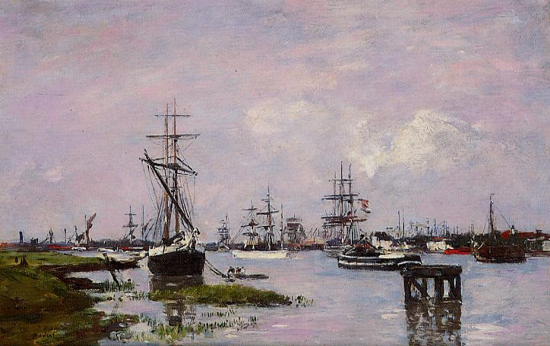 Anvers The Port 1871-1874 | Eugene Louis Boudin | Oil Painting