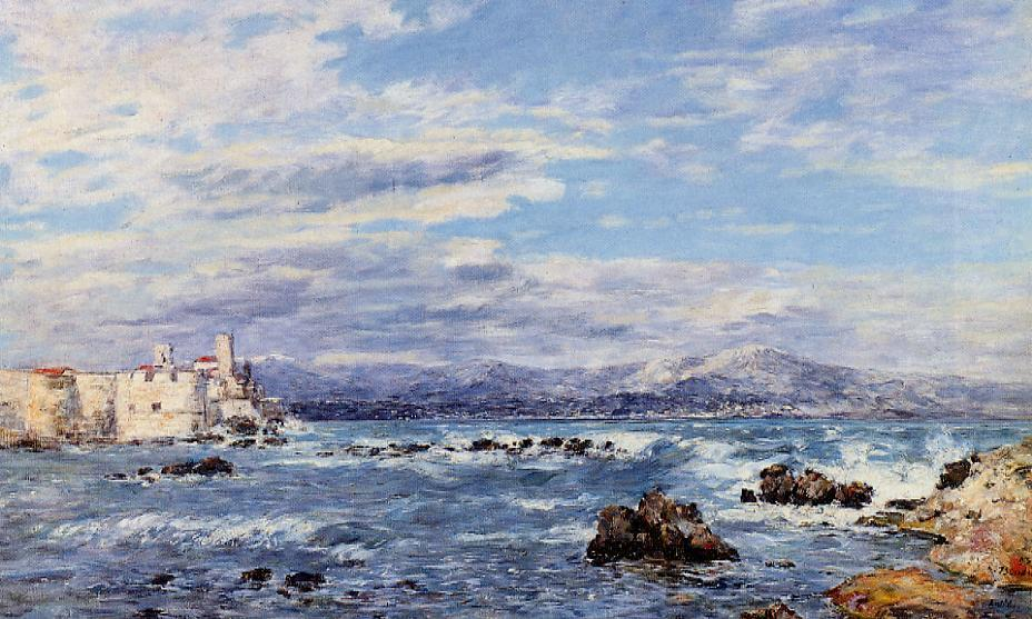 A Gusty Northwest Wind at Antibes 1893 | Eugene Louis Boudin | Oil Painting