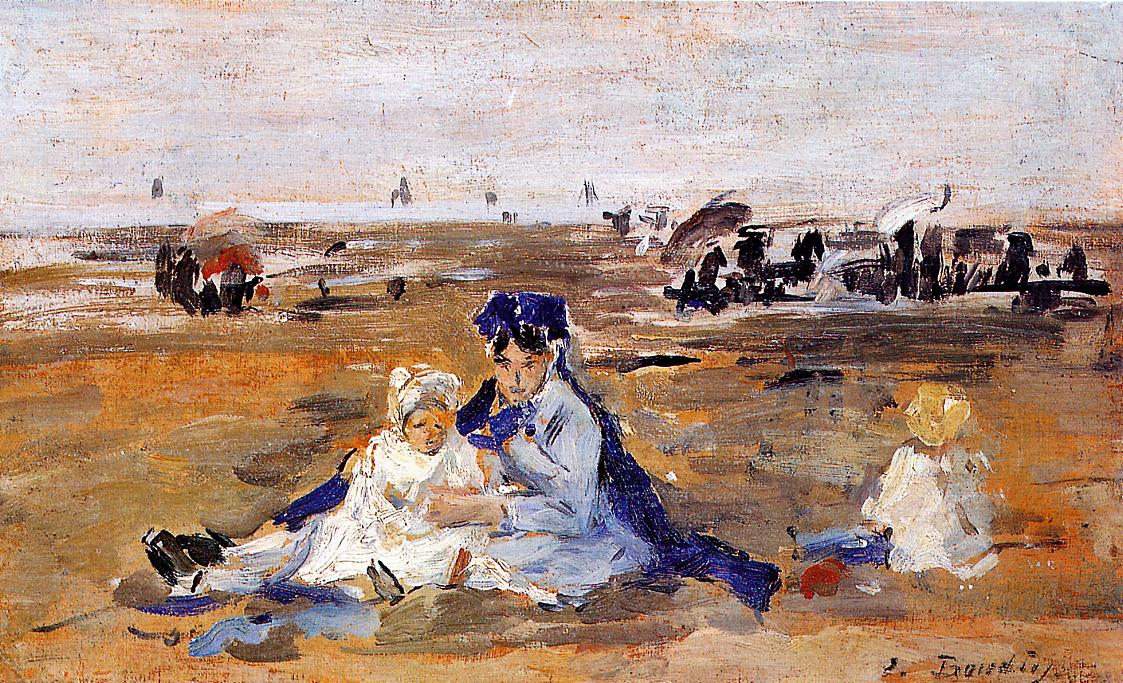 A Nanny on the Beach 1883-1887 | Eugene Louis Boudin | Oil Painting