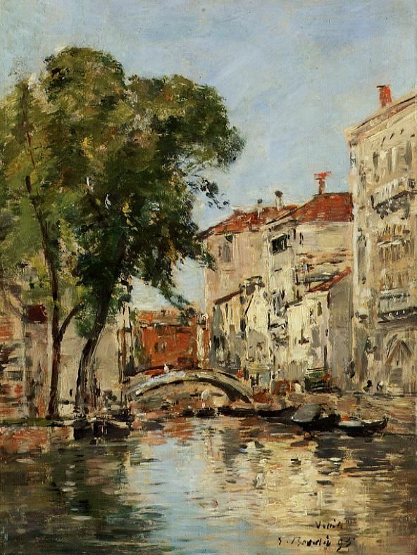 A Small Canal in Venice 1895 | Eugene Louis Boudin | Oil Painting
