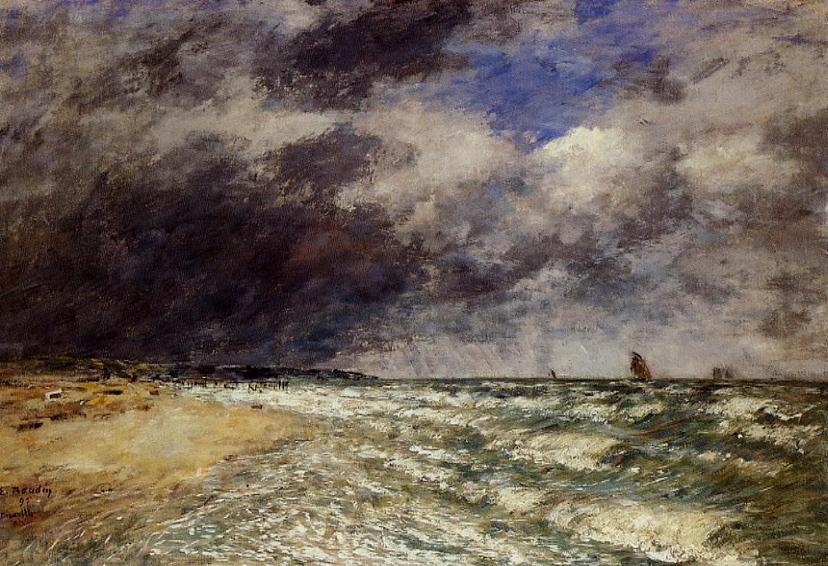 A Squall from Northwest 1895 | Eugene Louis Boudin | Oil Painting
