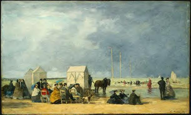 Bathing Time at Deauville 1865 | Eugene Louis Boudin | Oil Painting